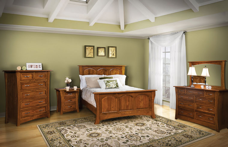 The Brisben Setting is a beautiful bedroom set with the kind of details that set it apart from your run-of-the-mill set. Details such as the dentil molding that ties each piece together, to the pull-outs on the nightstands will make you fall in love with this set for decades to come.