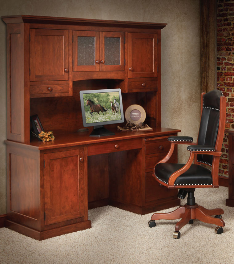 Home Office Deskchairs:  Deskchairs -2Homestead Furniture Amish Made Solid Wood