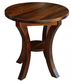 What Size End Table Do I Need Amish Furniture Collection Shelby - Round end table with doors