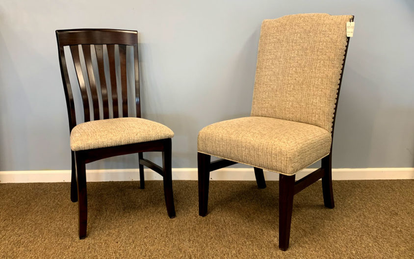 Examples of two Upholstered Amish Chairs